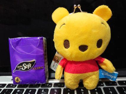 Disney Winnie the pooh 小熊維尼口金散銀包