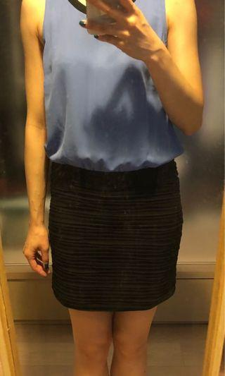 黑藍色背心裙 Black and blue tank dress