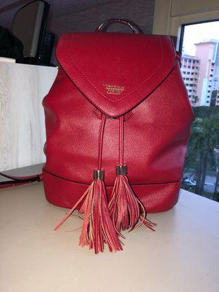 Victoria secret red backpack