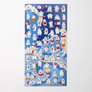 Polar bear sheet stickers