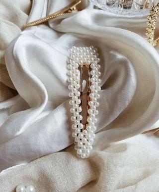 珍珠法夾 全新 歐美