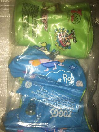 🚚 Swimming Arm bands float support in George peppa pig and powerpuff girls