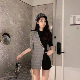 Designer Korean collar playsuits