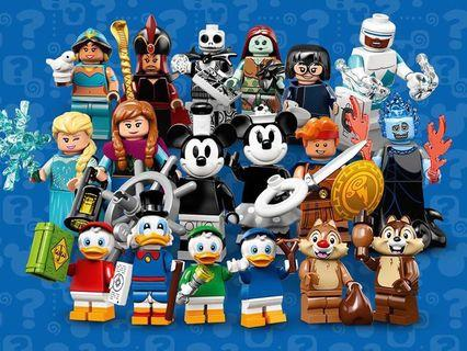 Lego Disney 2 人仔 no.4 藍 鴨, no.5 綠 鴨