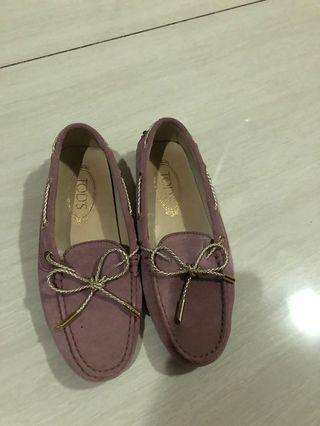 Tods Loafer Shoes Purple