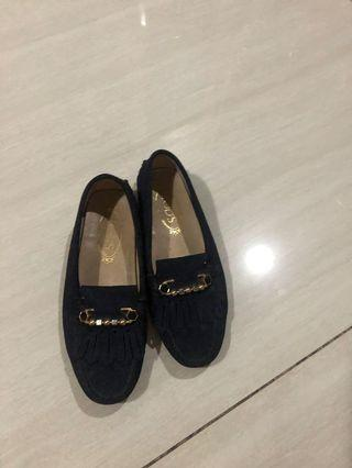 Tods Loafer Shoes Navy