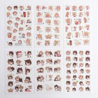 Cat girl tumblr sheet stickers