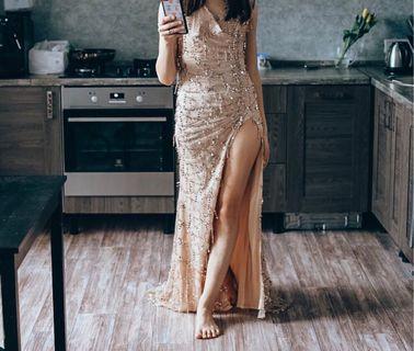 Slitty Sequin style Dress