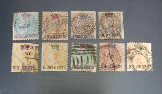 Straits settlements 1867 stamps full set