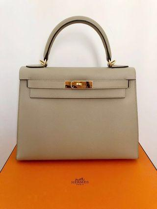 28c7fe0ae17c Hermes Kelly 28 Sellier Trench