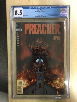 Preacher #1 CGC 8.5 White Pages by DC Vertigo Comics