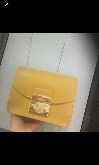 Furla Metropolis Sling Bag in Mustard