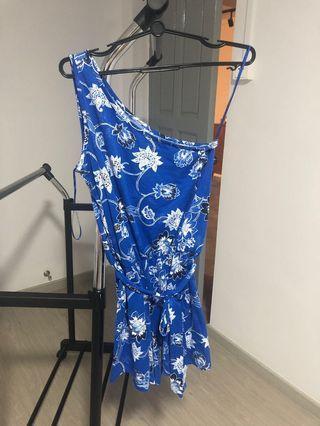 Dorothy Perkins Bright Blue Paisley Batik Print Toga Romper
