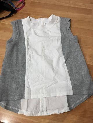 brand new md dressing grey top