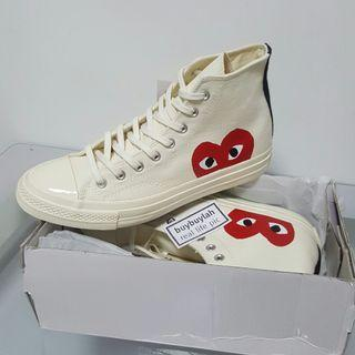 Eur37-45 instock! High Cut Red Heart Canvas Shoes