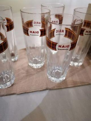 6 Haig Scotch Whiskey Glasses
