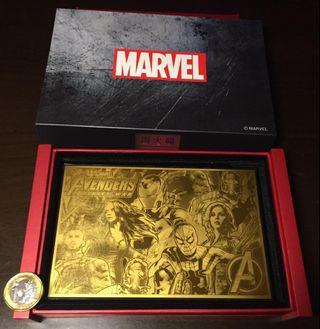 Marvel Avengers Gold Plate *LIMITED EDITION*