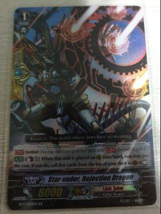 🚚 Star-vader,rejection dragon double rare grade 1