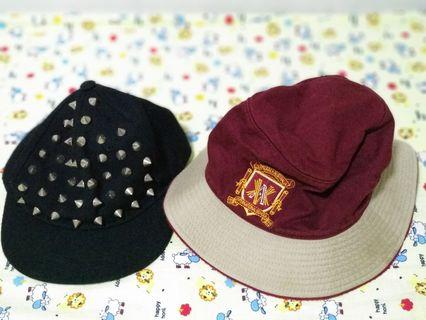 Bucket Hat and spikey cap