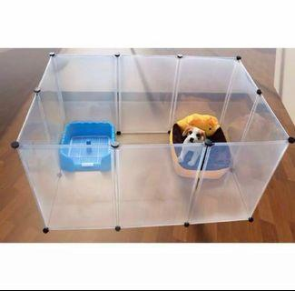 Pet plastic playpen fence diy cage