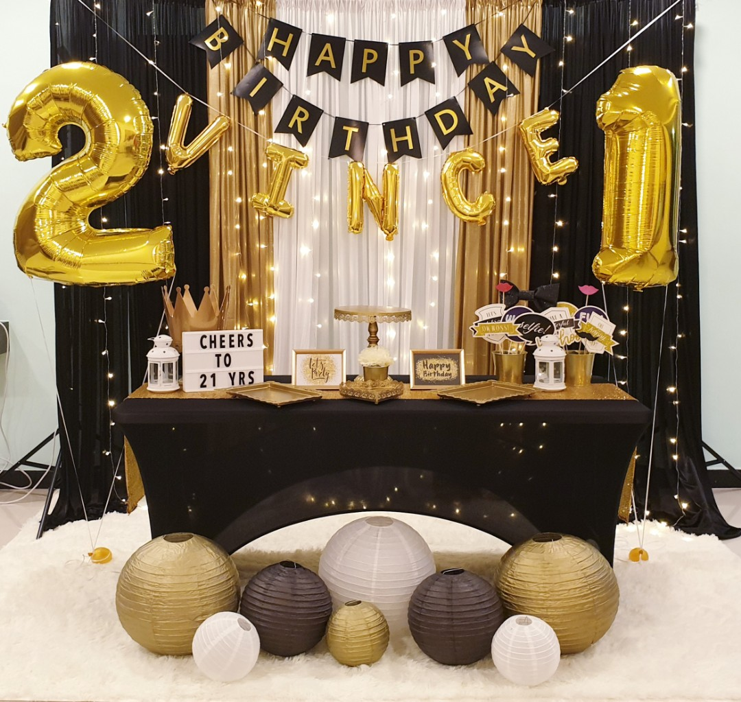21st Birthday Party Decor Design Craft Others On Carousell