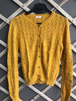 Yellow Cardigan / Kardigan Kuning Import Korea