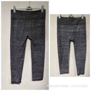 全新 灰色運動legging貼身七分褲