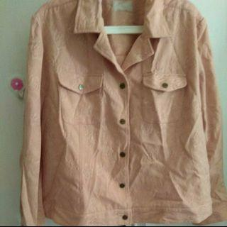 Jaket wanita bigsize peach XXXL