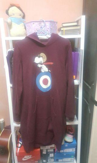 Uniqlo × Peanuts long sweater hoodie