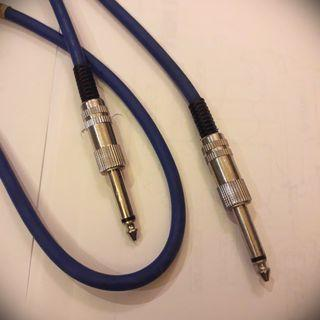 Audio Jacks Microphone Cable 6.35 mm (Blue)