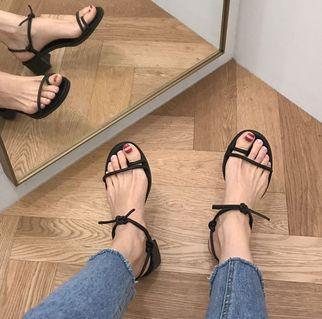 韓國Sappun綁帶涼鞋