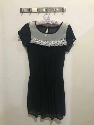 Black sifon dress