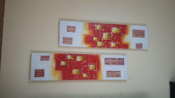 living room abstract wall painting