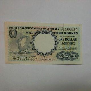 Malaya 1959 $1 Ef