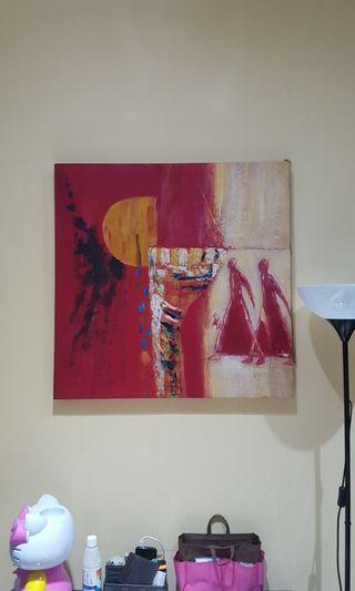 abstract canvas wall.painting