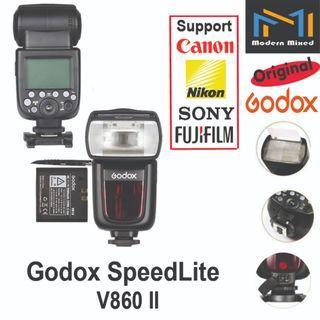 Godox Speedlite V860 II - support Canon / Nikon / Sony / Fujifilm