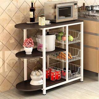 🚚 Kitchen Island Storage Rack