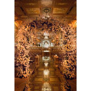 Ballroom overall wedding decoration