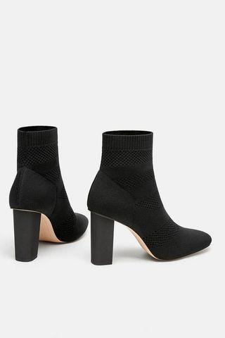 Zara Perforated Sock Boots