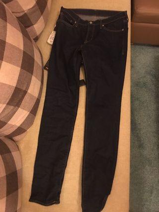 GU slim cut jeans 牛仔褲 31腰