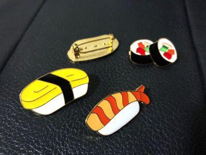 New! In stock! FREE Mailing! Sushi Enamel Pin