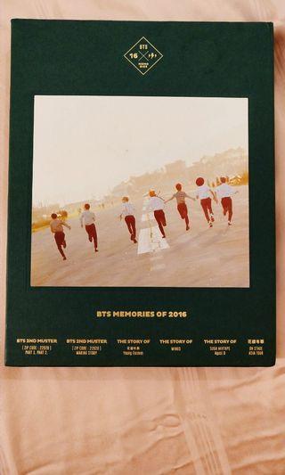 BTS Memories of 2016 DVD 4 Disc Digipack with 188p Photo book