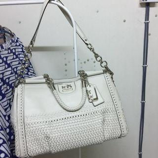 Coach White Handbag