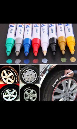 Car styling tire wording writing pen (only white available)