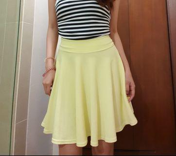 Yellow Flare Skirt