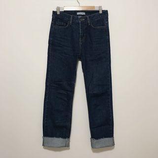 🚚 92pleats 原色直筒牛仔褲