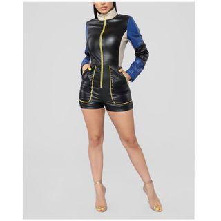 Brand new with tags leather jumpsuit