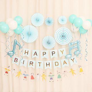 **RESTOCKED** Sweet Birthday Decoration Bundle Set - Light Blue