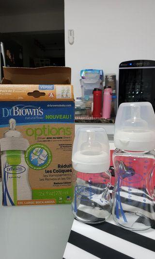 🚚 Dr Brown Options Glass Bottles (270ml & 160ml)