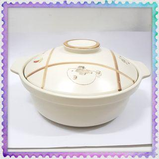 Large Clay Treasure Goodies Pot with lid cover kitchen cookware 大盆菜沙瓦煲汤锅 (Used)